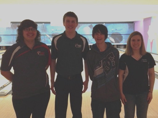 2.16.14 BYBT - @ Ten Pin Alley - Champions - Allison Dempski, Joey Miller, Connor Carpenter, Kaitlyn Meyers